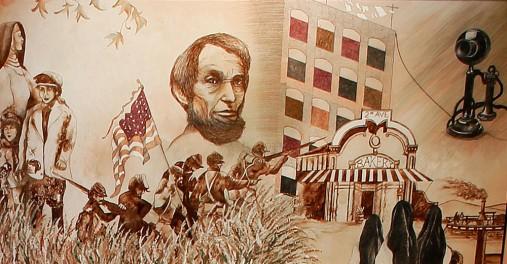 Heritage Room Mural 3, 1848-1881