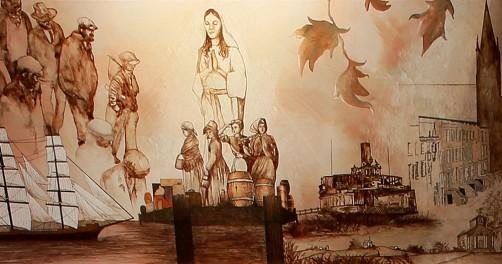 Heritage Room Mural 2, 1853-1869