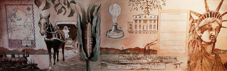 Heritage Room Mural 4, 1877-1886