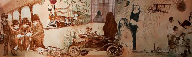 Heritage Room Mural 5, 1890-1910