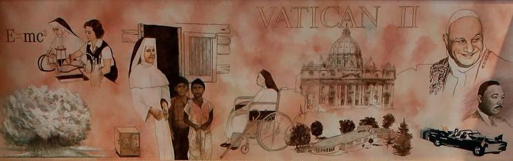 Heritage Room Mural 8, 1945-1968