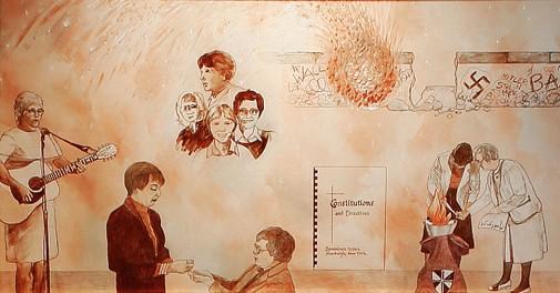 Heritage Room Mural 10, 1973-1989
